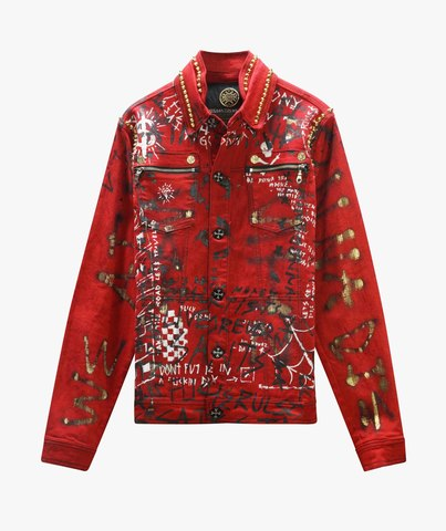 Куртка джинсовая The Saints Sinphony RED GRAFFITI JACKET