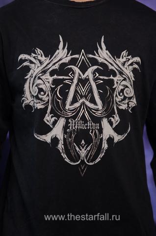 Affliction   Мужская футболка лонгслив A225578 принт спереди