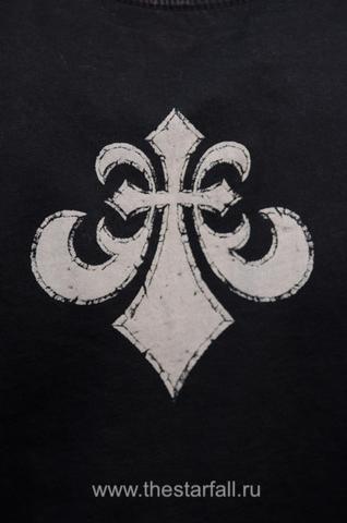 Affliction   Мужская футболка лонгслив A225578 принт на спине геральдическая лилия
