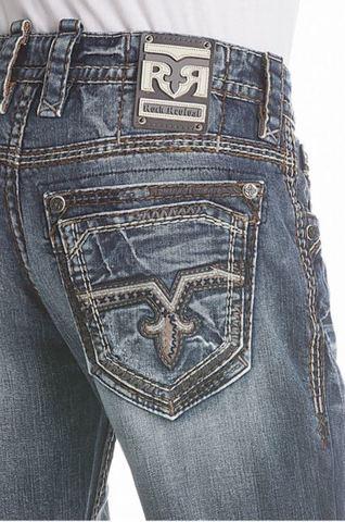 Rock Revival | Джинсы мужские RAINE J208 STRAIGHT CUT JEAN RP2194J208 задний карман