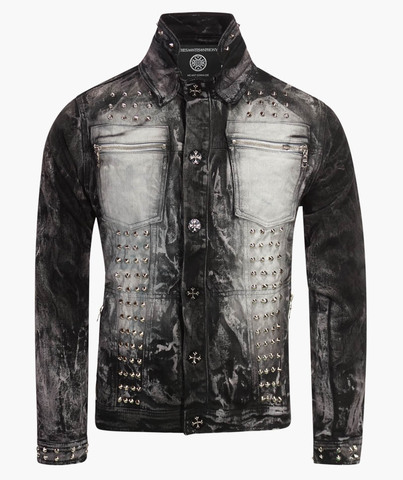 Куртка джинсовая The Saints Sinphony DISTRESSED BLACK SKULL