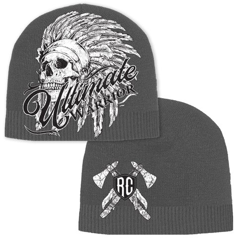 Шапка ULTIMATE WARRIOR CHIEF BEANIE Grey Rush Couture