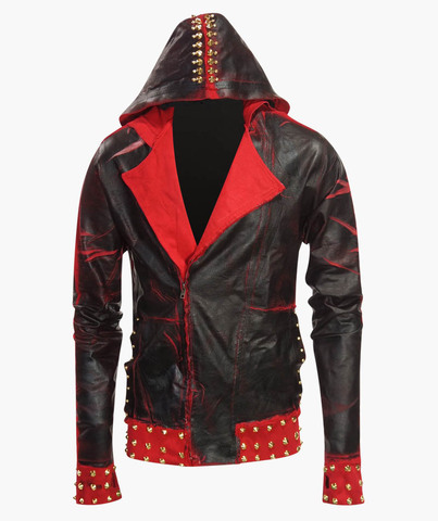 Толстовка The Saints Sinphony RED BLACK GOLD WAXED BIKER JACKET