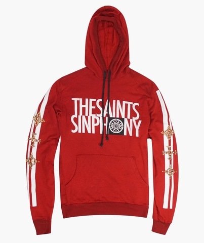 Толстовка The Saints Sinphony THE SAINTS TEXT HOODIE RED AND GOLD