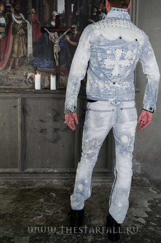 Куртка мужская джинсовая The Saints Sinphony TSJ008 спина на модели