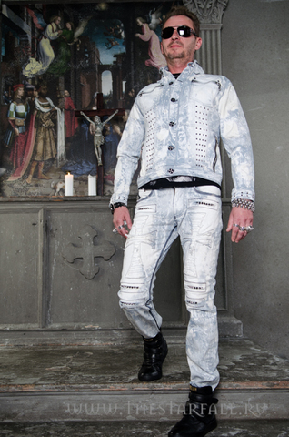 Куртка мужская джинсовая The Saints Sinphony TSJ008 перед на модели