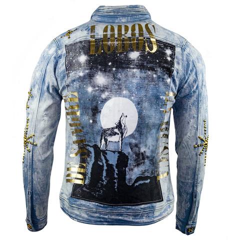Куртка джинсовая The Saints Sinphony J066 WOLF HOWLING JACKET LITE BLUE