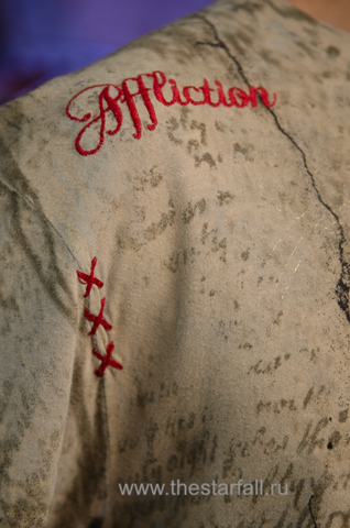 Affliction | Футболка мужская из бамбука Despair Bamboo Tee A712 вышивка спереди
