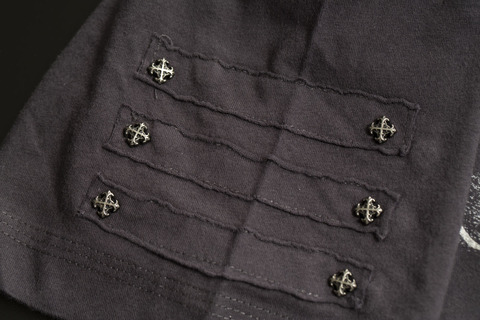 Футболка Rebel Spirit SSK111148 рукав клепки кресты
