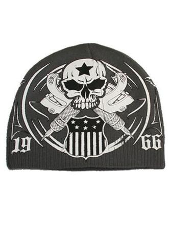 Шапка AMERICAN TRADITION BEANIE Grey Rush Couture