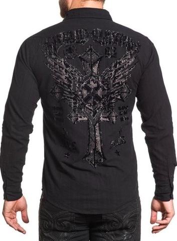 Affliction рубашка 349 черная