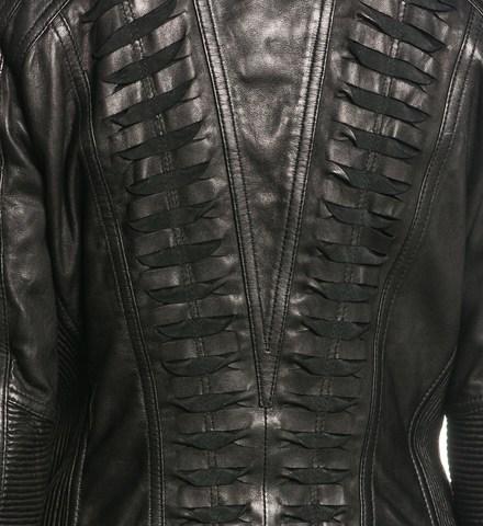 Affliction | Куртка женская кожаная Black Premium Live Fast Jacket 111OW025 детали на спине