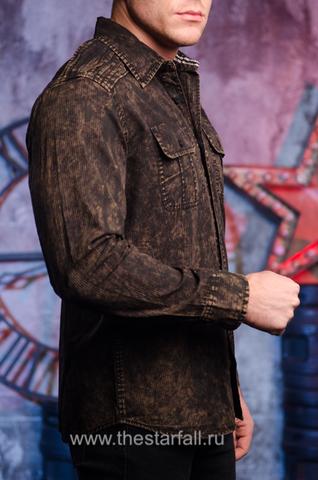 Affliction | Рубашка мужская Replica in Black/Brown 110WV716 правый бок