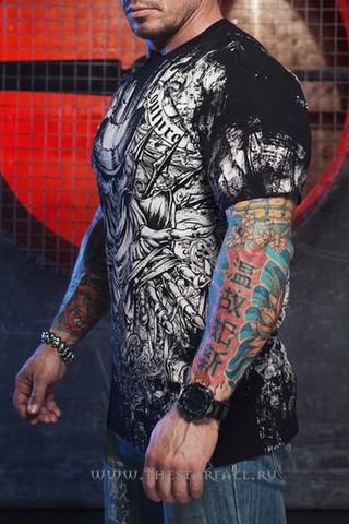 Xtreme Couture | Футболка мужская Offering Black X170 от Affliction левый бок