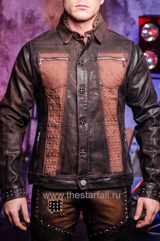 Куртка мужская джинсовая The Saints Sinphony BROWN SHIELD TSJ007BRB перед