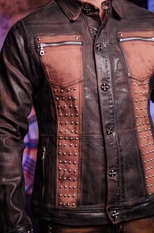 Куртка мужская джинсовая The Saints Sinphony BROWN SHIELD TSJ007BRB передние карманы
