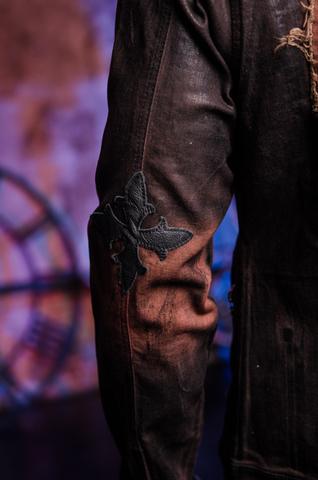 Куртка мужская джинсовая The Saints Sinphony BROWN SHIELD TSJ007BRB рукав
