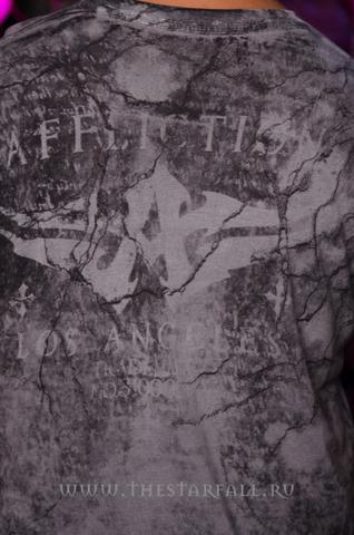 Affliction | Футболка мужская из бамбука Atonement Bamboo Tee A1151 принт на спине