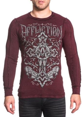 Affliction | Пуловер мужской двусторонний CHAINED EAGLE A18057 перед
