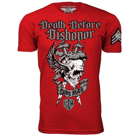 Футболка DEATH BEFORE DISHONOR SILVER MEN Rush Couture. Made in USA