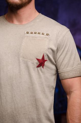 Футболка мужская Rebel Spirit RSSK130288 передняя вышивка звезда