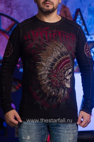 Affliction | Двусторонний мужской пуловер Affliction A226750 перед