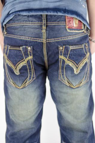Remetee | Джинсы мужские RM2325 Premium от Affliction задние карманы