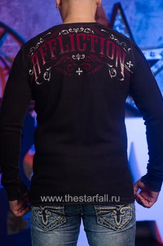 Affliction | Двусторонний мужской пуловер Affliction A226750 спина
