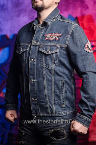 Джинсовая куртка Affliction A3882 левый бок