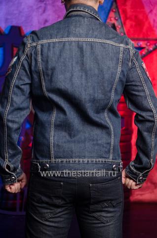 Джинсовая куртка Affliction A3882 спина