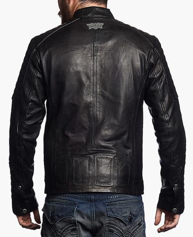 Affliction | Куртка мужская кожаная Easy Rider Jacket 110OW141 спина