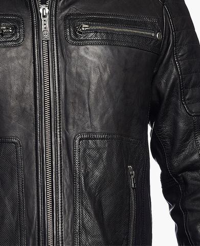 Affliction | Куртка мужская кожаная Easy Rider Jacket 110OW141 передний карман