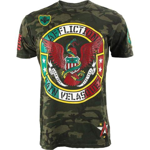 Affliction | Футболка мужская CAIN VELASQUEZ UFC 180 CAMO Walkout Shirt перед