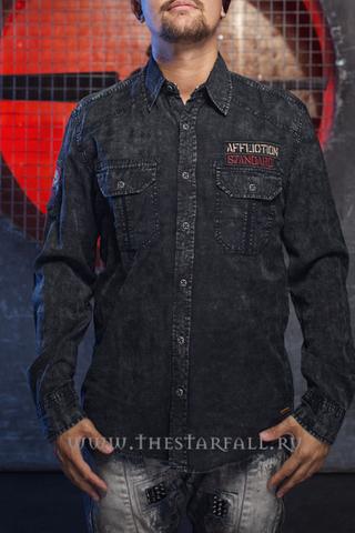 Affliction   Рубашка мужская A06730 перед