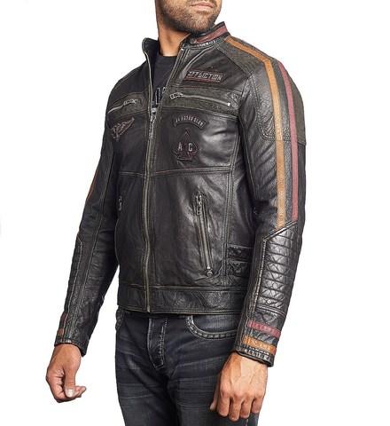 Куртка кожаная Affliction Built for Speed 110OW187 вид сбоку