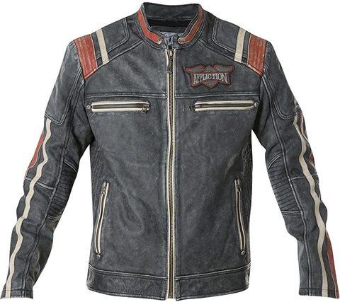 Куртка кожаная Affliction Speed Shop 110OW227 спереди