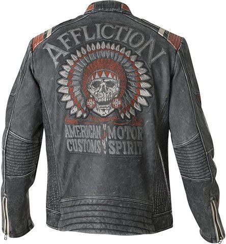 Куртка кожаная Affliction Speed Shop 110OW227