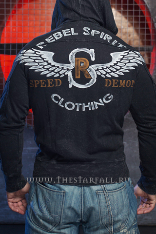 Rebel Spirit | Худи мужское RFTZH151648 спина на модели