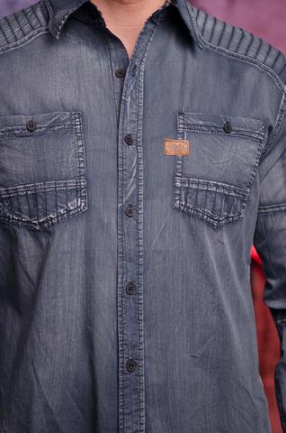 Affliction | Рубашка мужская HELL BOUND 110WV710 передние карманы