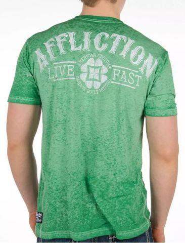 Affliction   Футболка мужская American Customs Cloverfield A8053 спина