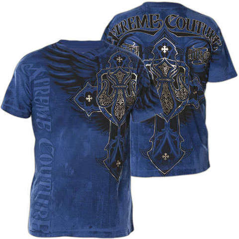 Футболка Lockdown  in Blue Xtreme Couture от Affliction
