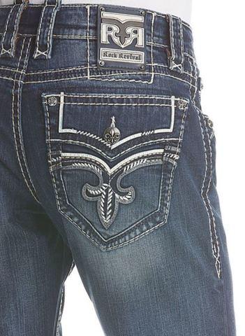 Rock Revival   Джинсы мужские GOSLAR J404 STRAIGHT PR1637J404 задний карман