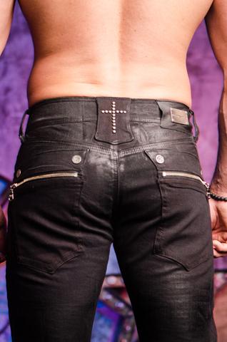 The Saints Sinphony | Мужские джинсы BLACK JESUS PIECE TSG206 задние карманы