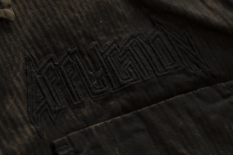 Affliction | Рубашка мужская Replica in Black/Brown 110WV716 вышивка спереди