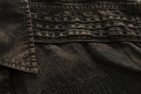 Affliction | Рубашка мужская Replica in Black/Brown 110WV716 декоративный шов спереди