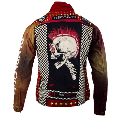 Куртка джинсовая The Saints Sinphony RED PUNK JACKET