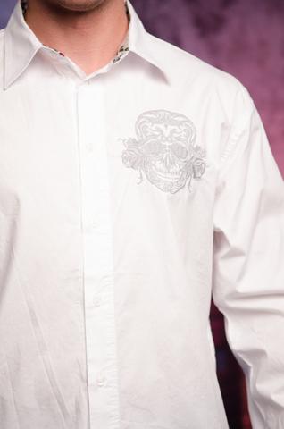 Рубашка Rebel Spirit LSW141473 вышивка череп спереди