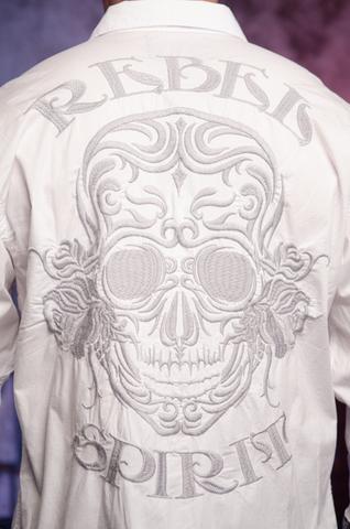 Рубашка Rebel Spirit LSW141473 вышивка на спине череп