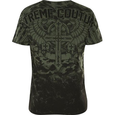 Футболка LOST SOLDIER Xtreme Couture от Affliction зеленого цвета спина