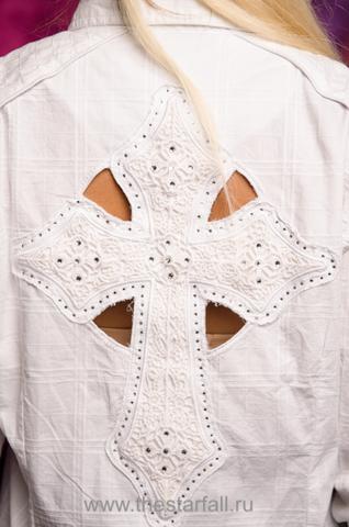 Affliction рубашка CROSS GAMES декоративный элемент крест на спине